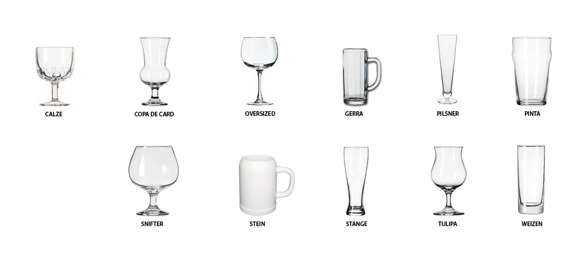 A cada cerveza, una cristalería